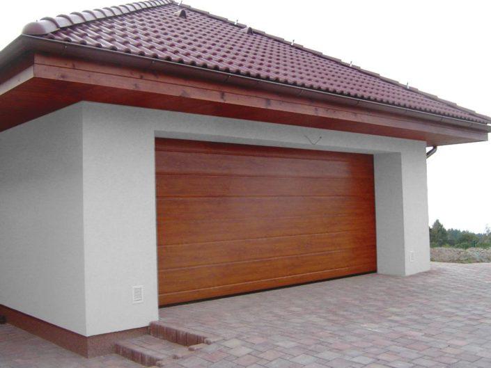 garážová vrata sekční, dekor dřevo