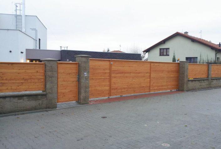 branky a oplocení, dřevo