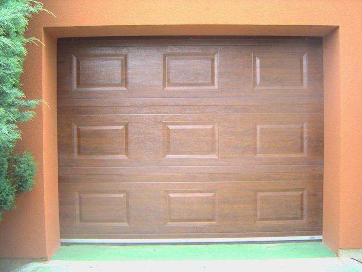 garážová vrata, dekor dřevo, kazety